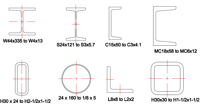 Steel shapes library for autocad lt the cad company